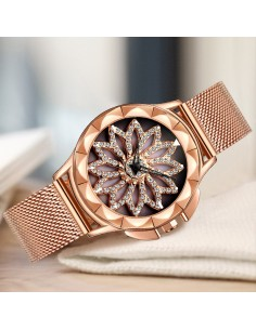 Montre à  quartz femme «Golden diamond»