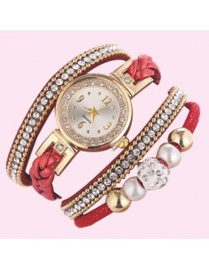 "Montre bracelet femme ""Lady in red"""