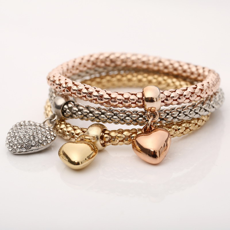 "Bracelet multi-rangs femme ""Golden heart"""